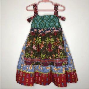 Matilda Jane 6 Girls Fiest Apron Dress Foxes